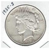 1935-S Peace Silver Dollar