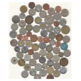 Bag of 76 Misc. Coins and Tokens - U.S. and