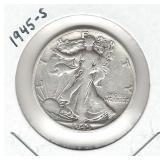 1945-S Walking Liberty Silver Half Dollar
