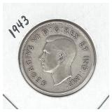 1943 Canadian Silver Half Dollar