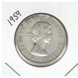 1959 Canadian Silver Half Dollar