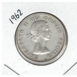 1962 Canadian Silver Half Dollar