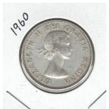 1960 Canadian Silver Half Dollar