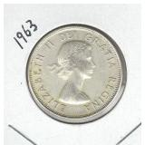 1963 Canadian Silver Half Dollar