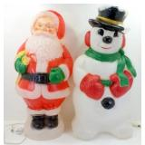 * Santa Clause and Snowman Large Glow Molds -