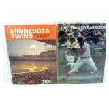 Minnesota Twins 1977 Yearbook & 1978 Official
