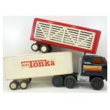 * Tonka Semi-Tractor w/ Two Trailers - Parts or