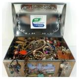 * Huge Tin w/ 13+ Pounds of Jewelry