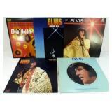 5 Elvis Presley Record Albums LP