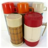 * 5 Vintage Thermoses