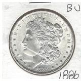 1886 Morgan Silver Dollar - BU (Condition is