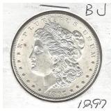 1897 Morgan Silver Dollar - BU (Condition is