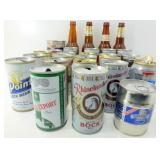** Beer Glass Lot & Beer Cans