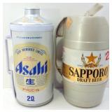 Asahi Draft Beer Can & Sapporo Draft Beer from