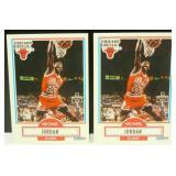 Two 1990-91 Fleer Michael Jordan Cards - Perfect