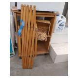 Two baskets, expandable gate, and rolling plywood