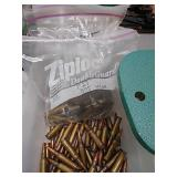 Mixture of ammunition and brass including 375 win