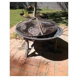 Metal outdoor fire pit