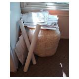 Large bag of packing peanuts, packing tubes and