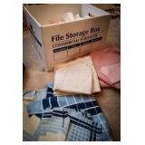 Vintage kitchen linens including sets of