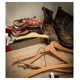 Red wing shoes lace-up work boot dusty but good