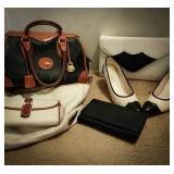 Dooney Bourke leather purse, Dooney Bourke white
