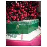 Four Christmas wreaths, 2 with red berries,