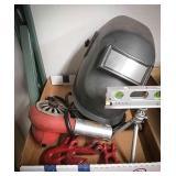 Commercial heat gun, welders hood, tripod level,