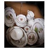 Vintage Spode Rosalie pattern dishes made in
