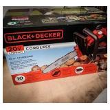 Black & Decker 20 volt cordless chainsaw still