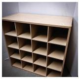 Wooden organizer box measuring 24 x 12 x 23