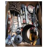 Slide of tools including chimney cleaner, penny s