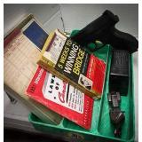 Jack set, BB pistol, Kim plastic card box with