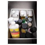 Spray paint, mineral spirits, full paint thinner,