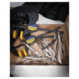 Five sets of vice grips, pliers and set of 2