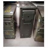 Tall munition box full of lead
