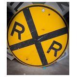 Metal railroad sign measuring 30 in