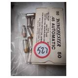 45 automatic ammunition including Winchester brand