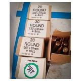 7.62 by 51 mm ammunition in 4 1/2 boxes
