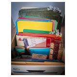 Hanging file folders, files, index dividers,