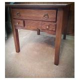 Solid wood side table 22 w x 27 d x 22 tall, with