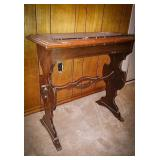 Antique / vintage wooden entryway table with