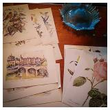 Three sets of vintage prints bird series by