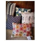 Five new throw pillows with tags