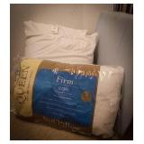 New queen pillow firm, 1 bed wedge, pair of