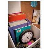 17 x 23 new bulletin board, desktop fan, clock,