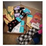 Hue new socks with tags, step out new socks,