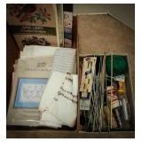 Quantity of knitting needles, instruction books