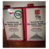 Superfine black rifle powder two canisters