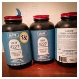 IMR 4227 smokeless powder 2 and 1/4 canisters as